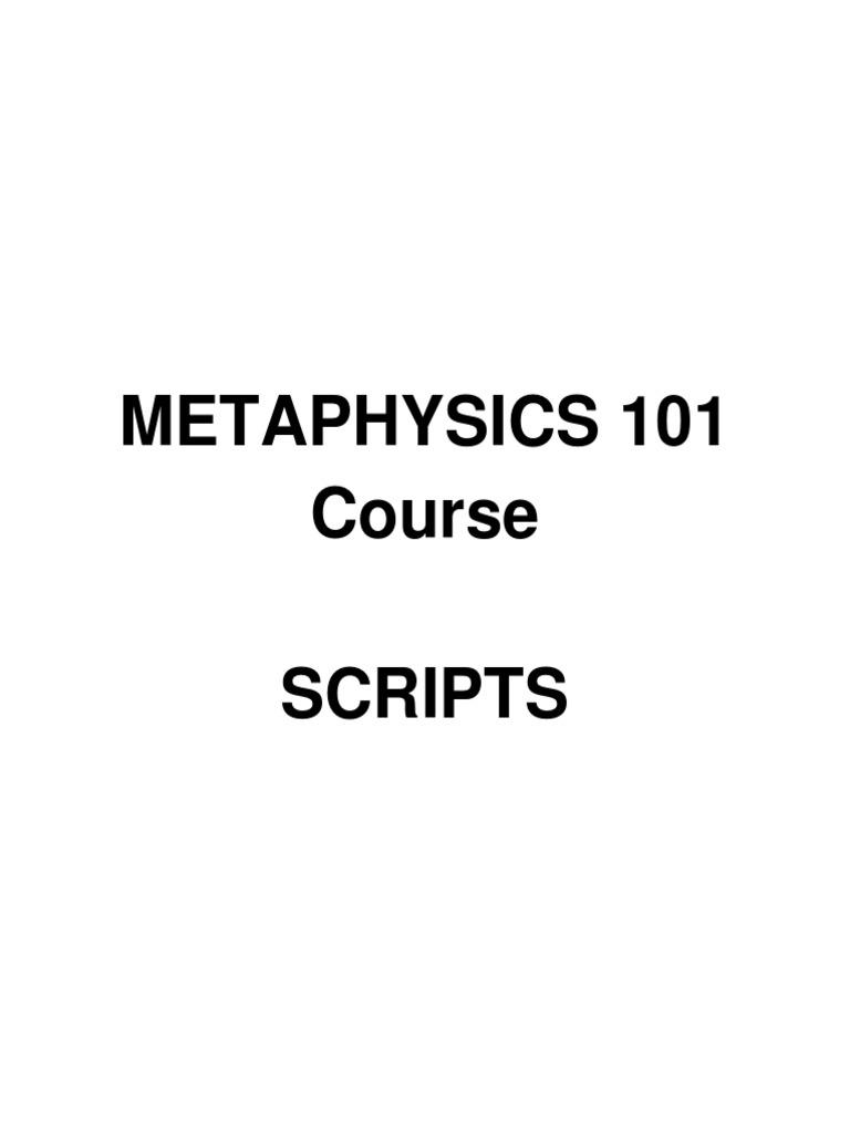 metaphysics 101 course scripts pdf   Hypnosis   Soul