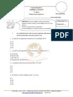 Evaluación Mensual 6ª Matematicas Abril