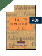 HACIA UNA FILOSOFÍA POLÍTICA CRITICA