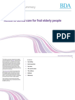 Access to Dental Care for Frail Elderly People V2