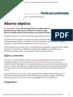 Aborto Séptico - Ginecología y Obstetricia - Manual MSD Versión Para Profesionales