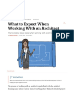 education what to expect when working with an architect