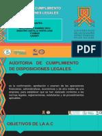 Auditoria de Cumplimiento de Disposiciones Legales.