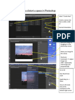 how to distort a space in photoshop handout