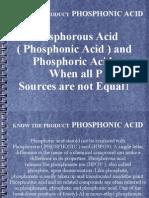 Phosphoric Acid vs Phosphonic Acid