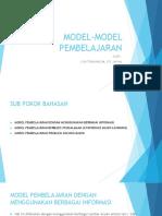 3 Model Model Pembelajaran