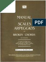 Manual of Scales Arpeggios Broken Chords Piano