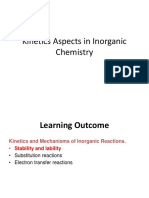 Kinetics Aspects Inorganic Chemistry