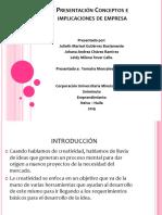 Presentación Conceptos e Implicaciones de Empresa