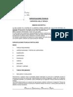 401 Pliego de Especificaciones Técnicas
