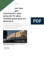 Polémica Por Una Psicóloga Que Convenció a Una Nena de 11 Años Violada Para Que No Abortara