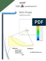 Rapport Mini Projet - Stabilité des pentes