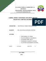 Cambio, Orden y Desorden, Equilibrio, Metodo Sistemico y Dialectico