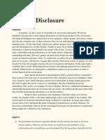 Medical Disclosure