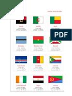 10 Banderas de Paises de Cada Continente