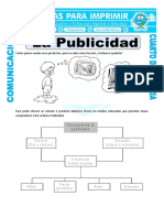 Ficha Tipos de Publicidad Para Cuarto de Primaria