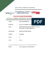 INFORME SOBRE CALCULO DE ALTURA DE PRESAS
