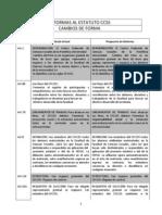 CUADRO REFORMA DE ESTATUTO - COMISIÓN