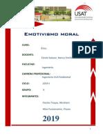 Emotivismo Moral (Grupo K) (2019 I)