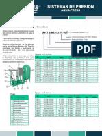 Ficha Técnica Sistema Aqua-Press