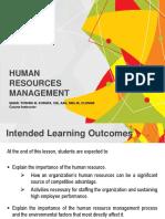 (7) Human Resources Management