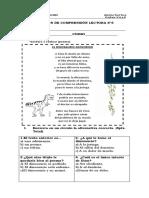 Evaluación de Comprensión Lectora 6