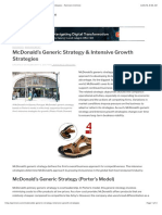 McDonald's Generic Strategy & Intensive Growth Strategies - Panmore Institute