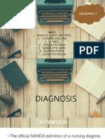 Diagnosis of Nursing Process