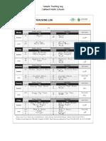 sample food donation tracking log