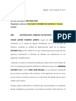 Contestacion Derecho de Peticion Juan Molina
