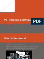 P3 - Hardware and Software