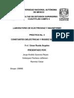Reporte de Practica 4 Electricidad y magnetismo