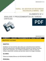 ANALISIS Y PROCEDIMIENTOS DE TAREAS CRITICAS