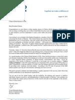 Letter President Bill Clinton CGI_Pakistan