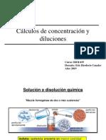 Diluciones y Cálculos de Concentración BIOL035 2019-1