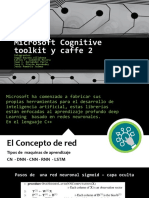 Microsoft Cognitive Toolkit y Caffe