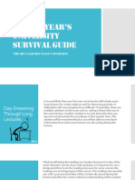 A First Year's University Survival Guide