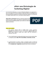 Cómo Definir Una Estrategia de Marketing Digital