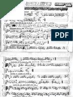 Coros en partitura