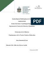 Fundamentos de La Teoría Cinética Molecular.