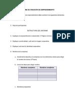 Informe de Creación de Emprendimiento