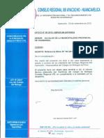 Otf. Sobre Aves Carroñeras Para Planta de Tratamiento Rr.ss. Ayacucho