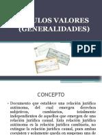 Titulos valores (Generalidades)