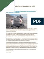 Tecnología de Punta en La Minería de Cielo Abierto
