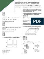 Examen Matematicas II Bloque II
