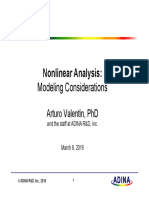 7 Non linear modeling with ADINA