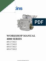 Perkins 4012- 4016 Workshop Manual