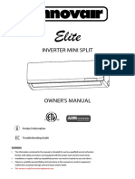 Innovair EIN Elite Mini Split Inverter Owners Manual (1)