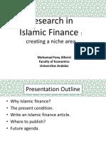 9. Research in if a Niche Area - M Fany Alfarisi, PhD