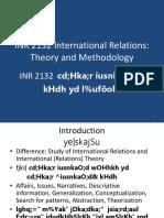 INR 2132 I R  Theory
